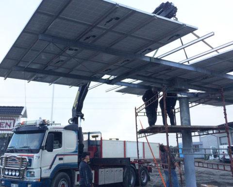 Solföljaren monterades klart den10 september 2014