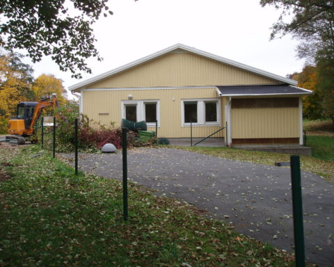 Frödings Förskola vid nedmonteringstilfället 140106 Bild: Rutger Fridholm