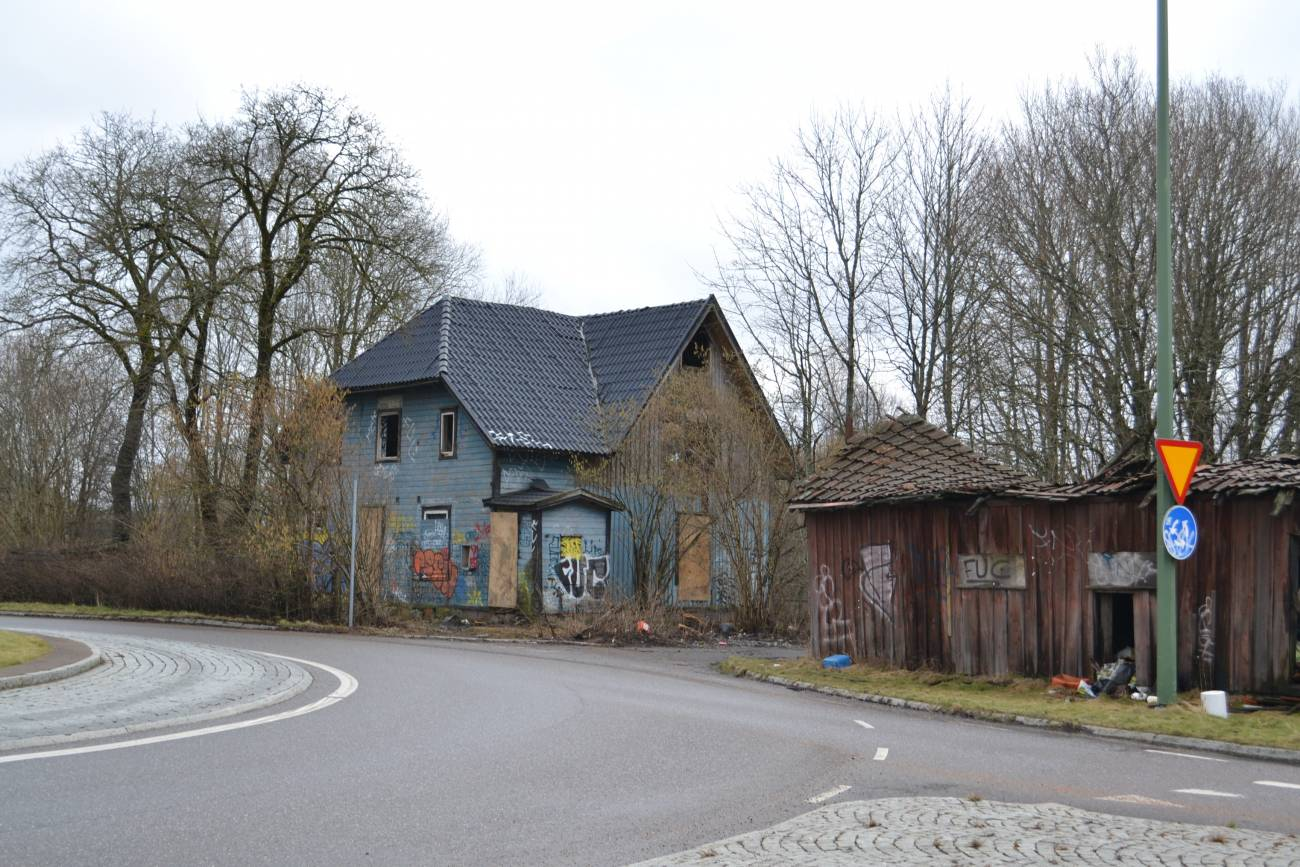 Rivningshuset i Stenkullen - snart ett minne blott.