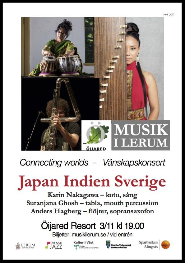"""""""Japan – Indien – Sverige"""" på Öijared den 3 november kl 17"""