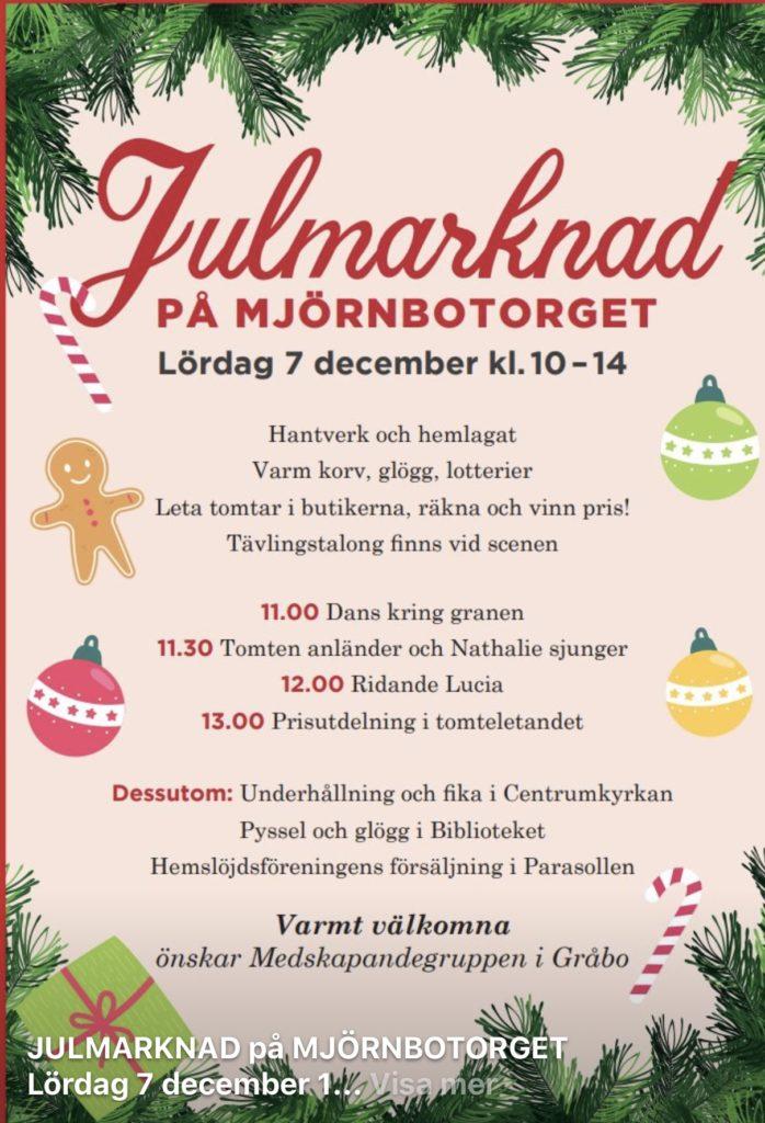 Julmarknad i Gråbo
